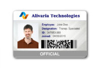 Employee Id Card Template Microsoft Word Free Download pertaining to Free Id Card Template Word
