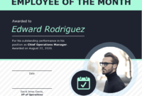 Employee Of The Month Certificate Of Recognition Template regarding Employee Of The Month Certificate Templates