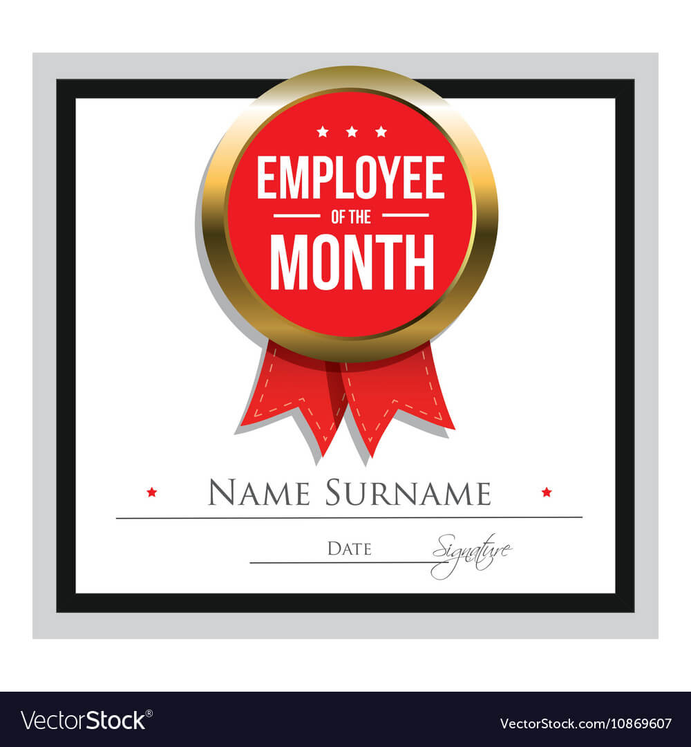 Employee Of The Month Certificate Template regarding Employee Of The Month Certificate Template With Picture