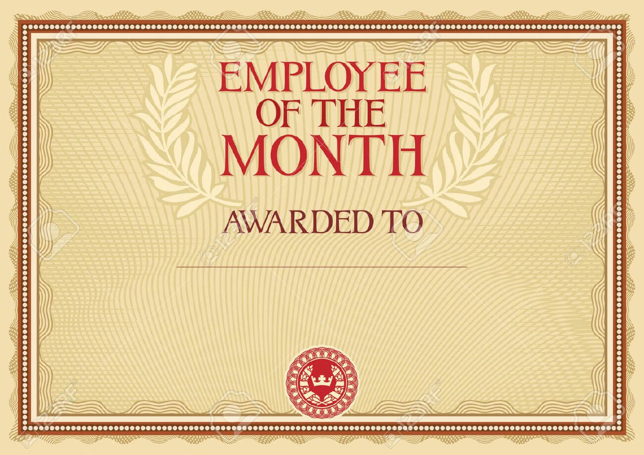 Employee Of The Month - Certificate Template regarding Employee Of The Month Certificate Template With Picture