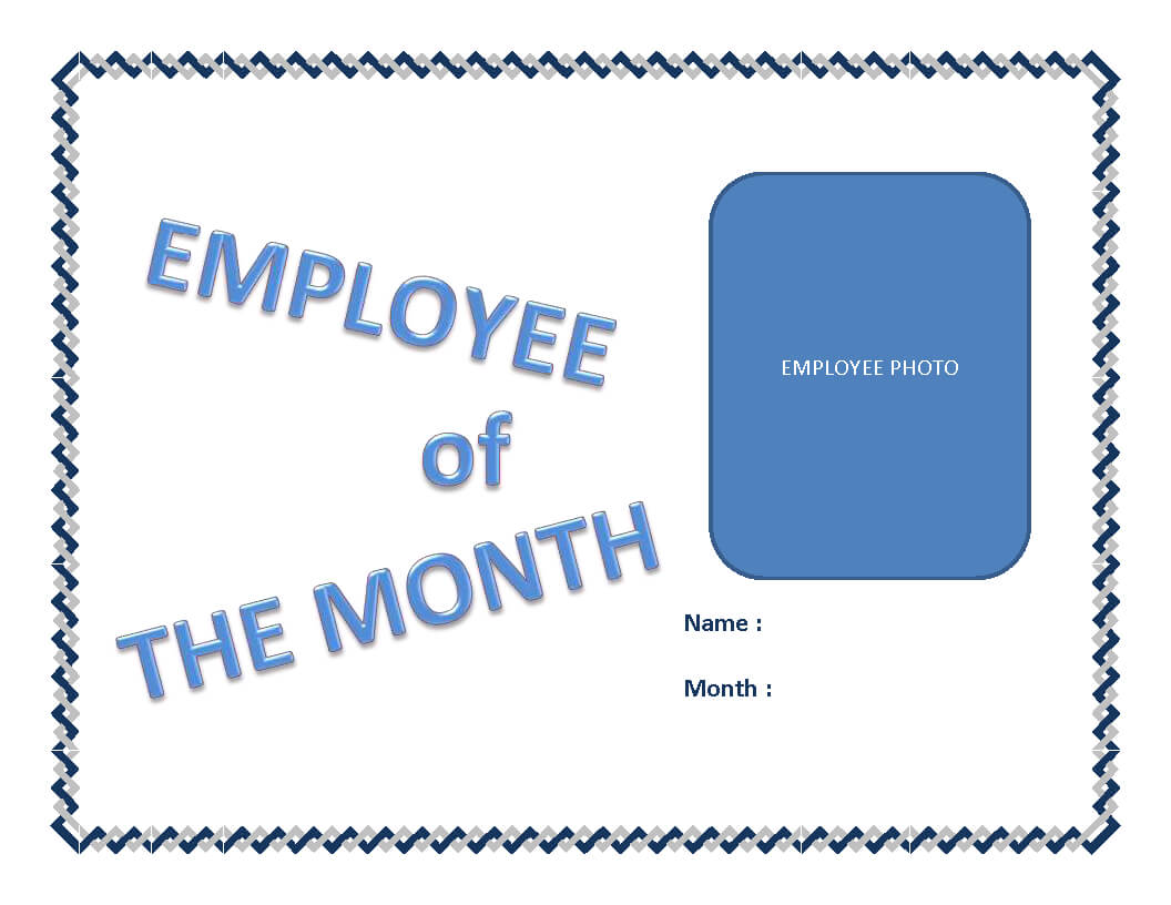 Employee Of The Month Certificate Template | Templates At pertaining to Employee Of The Month Certificate Template