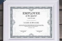 Employee Of The Quarter Editable Template Editable Award with regard to Commemorative Certificate Template