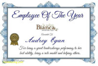 Employee Of The Year Certificate Template Update234 Com with Best Employee Award Certificate Templates