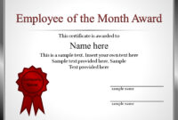 Employee Recognition Award Certificate Template Star with Best Employee Award Certificate Templates