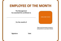 Employee The Month Certificate Template Free Microsoft Word pertaining to Microsoft Word Award Certificate Template