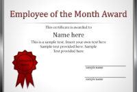 Employment Certificate Template This Is To Certify Best Of in Employee Of The Month Certificate Templates