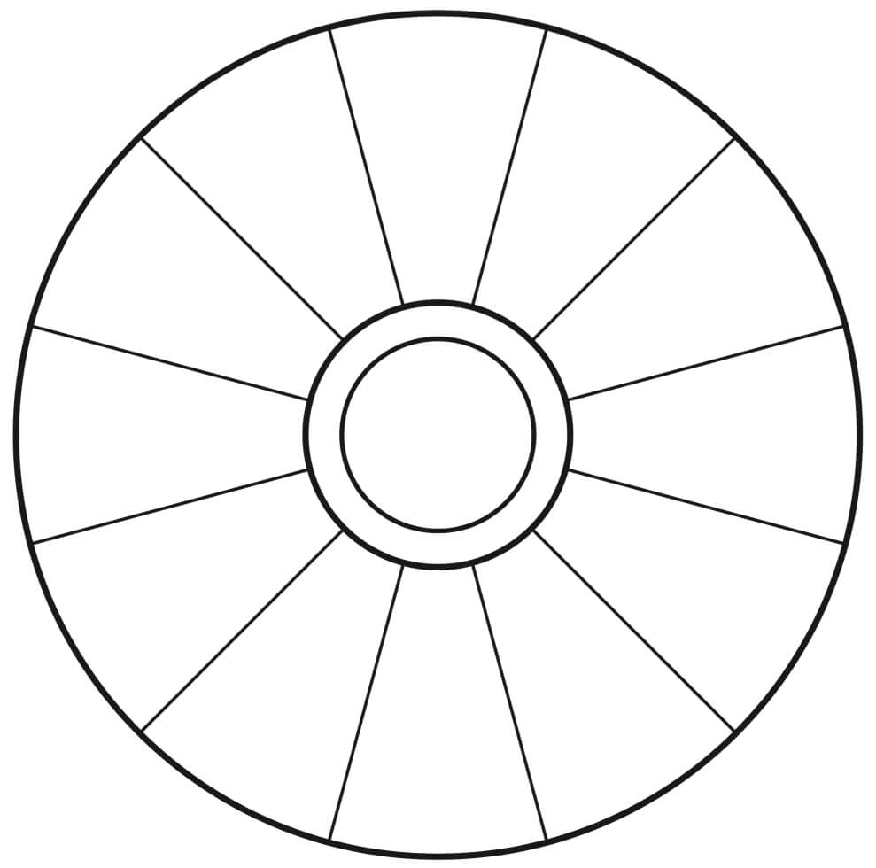 Empty Focus Wheel (To Print) | Abraham | Focus Wheel within Wheel Of Life Template Blank