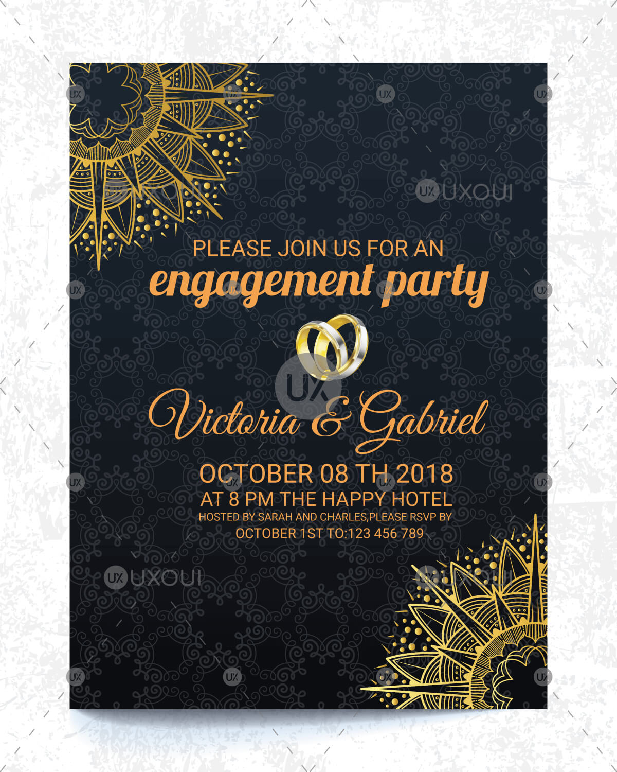 Engagement Invitation Cards - Major.magdalene-Project regarding Engagement Invitation Card Template