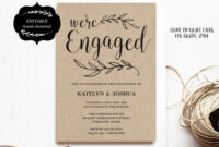 Engagement Invitation Template, Printable Engagement Party inside Engagement Invitation Card Template