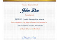 Entry #39Jackponco For Redesign A Certificate Template with Certificate Of Attainment Template
