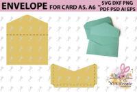 Envelope Template, Svg Printable Pdf Diy Digital within Envelope Templates For Card Making