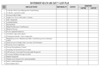 Environment Health And Safety Audit Plan – In Annual Health And Safety Report Template