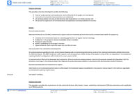 Environmental Management System Template [Free To Use And intended for Environmental Impact Report Template