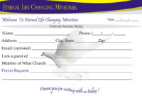 Eternal Life Visitor Card-B | Creative Kingdom Designs intended for Church Visitor Card Template Word