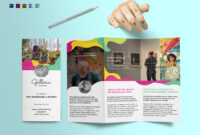 Event And Artistic Tri Fold Brochure Template in Tri Fold Brochure Publisher Template