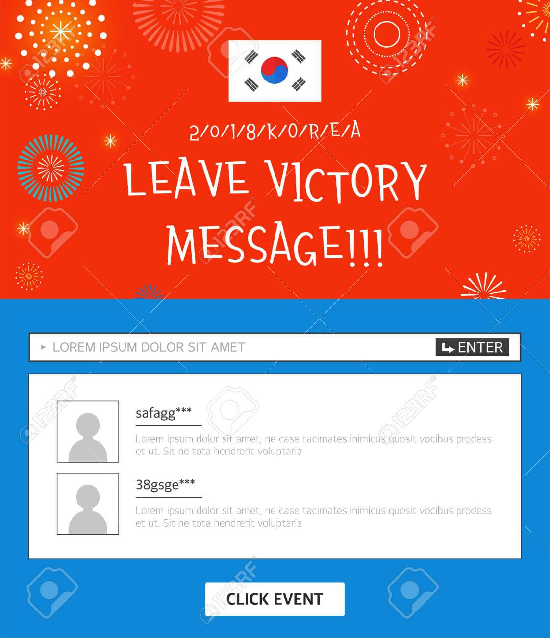 Event Banner Template - Leave Victory Message With Korean Flag with regard to Event Banner Template