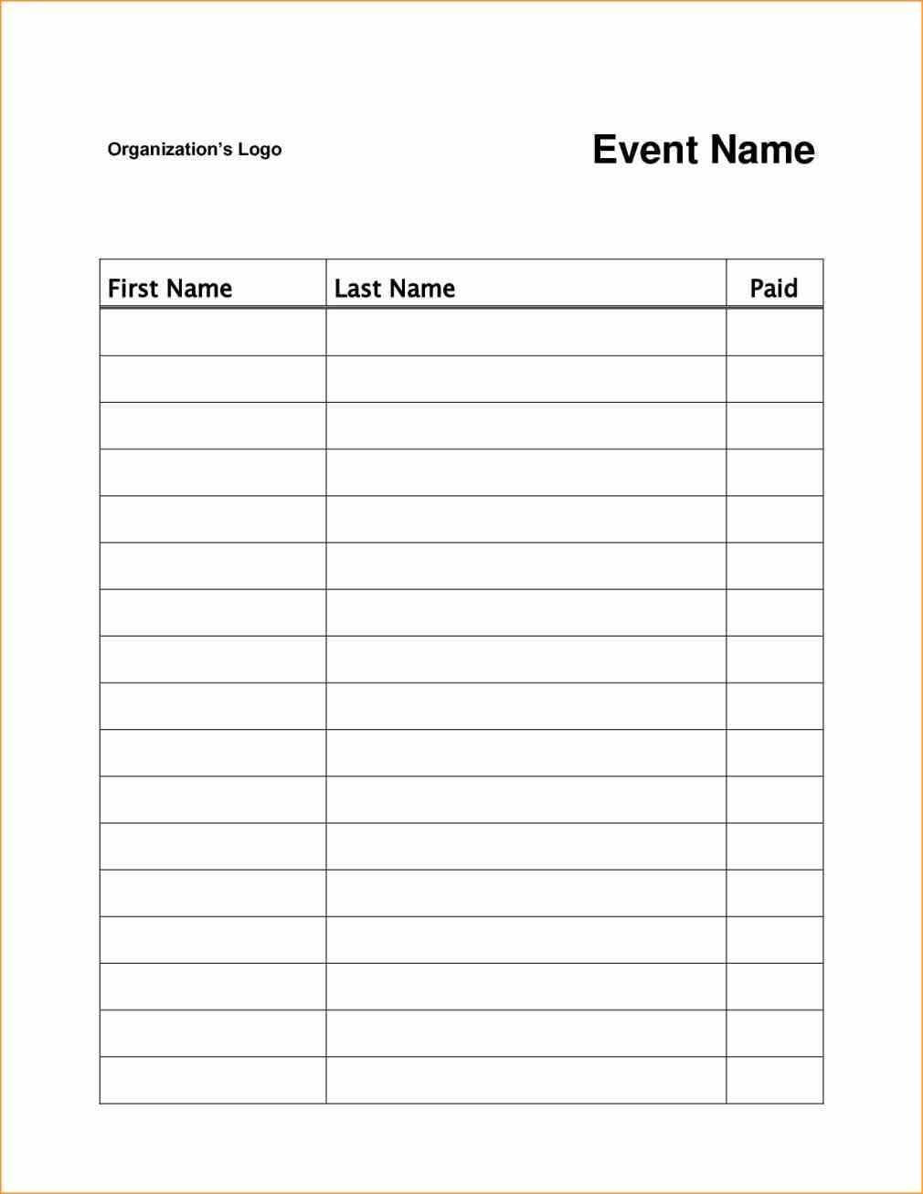 Event Or Class Workshop Forms A Sign Up Sheet Template Word with Free Sign Up Sheet Template Word
