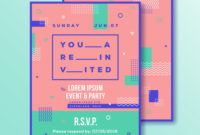 Event Party Invitation Card Template Modern throughout Event Invitation Card Template
