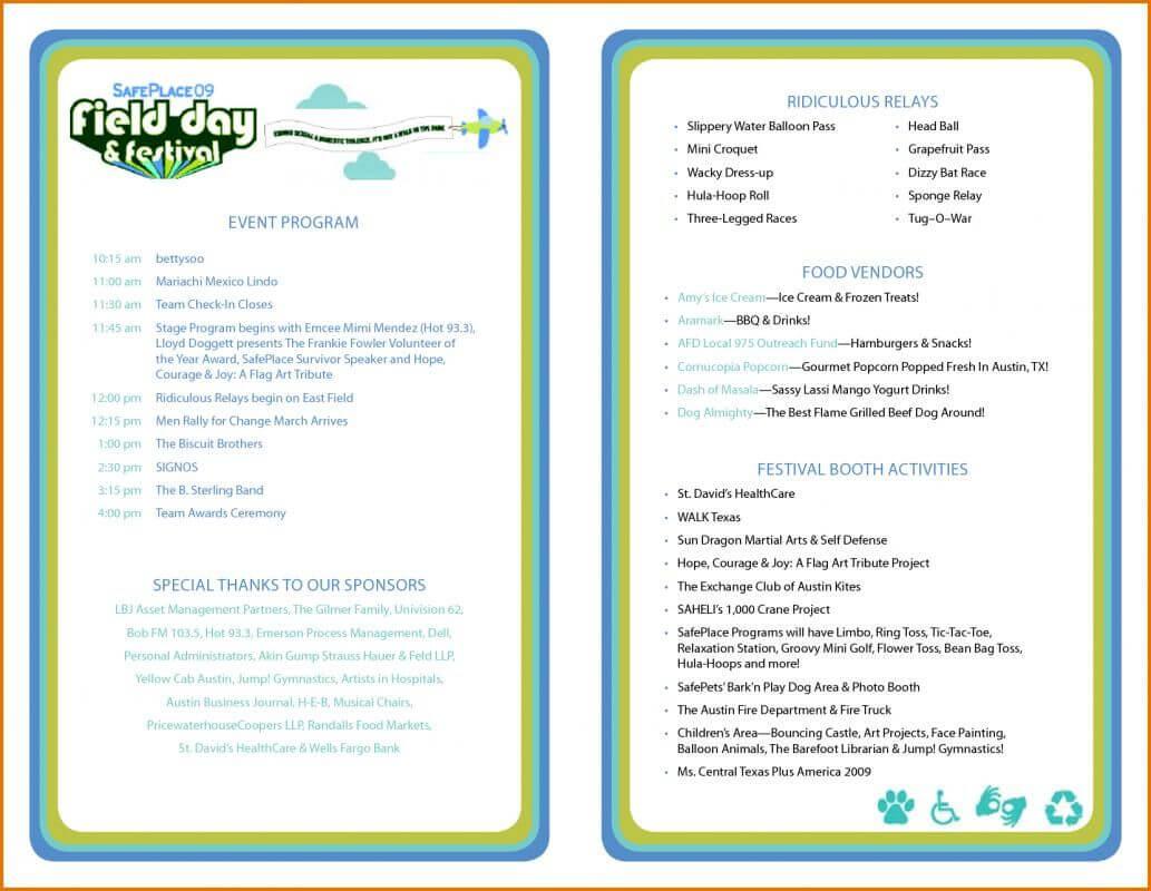 Event Program Template | Template | Program Template With Free Event Program Templates Word