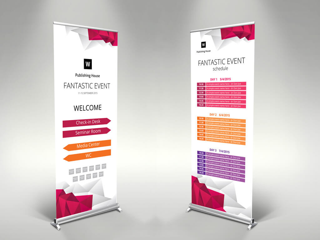 Event Roll-Up Banner Template – Themzy Templates throughout Event Banner Template