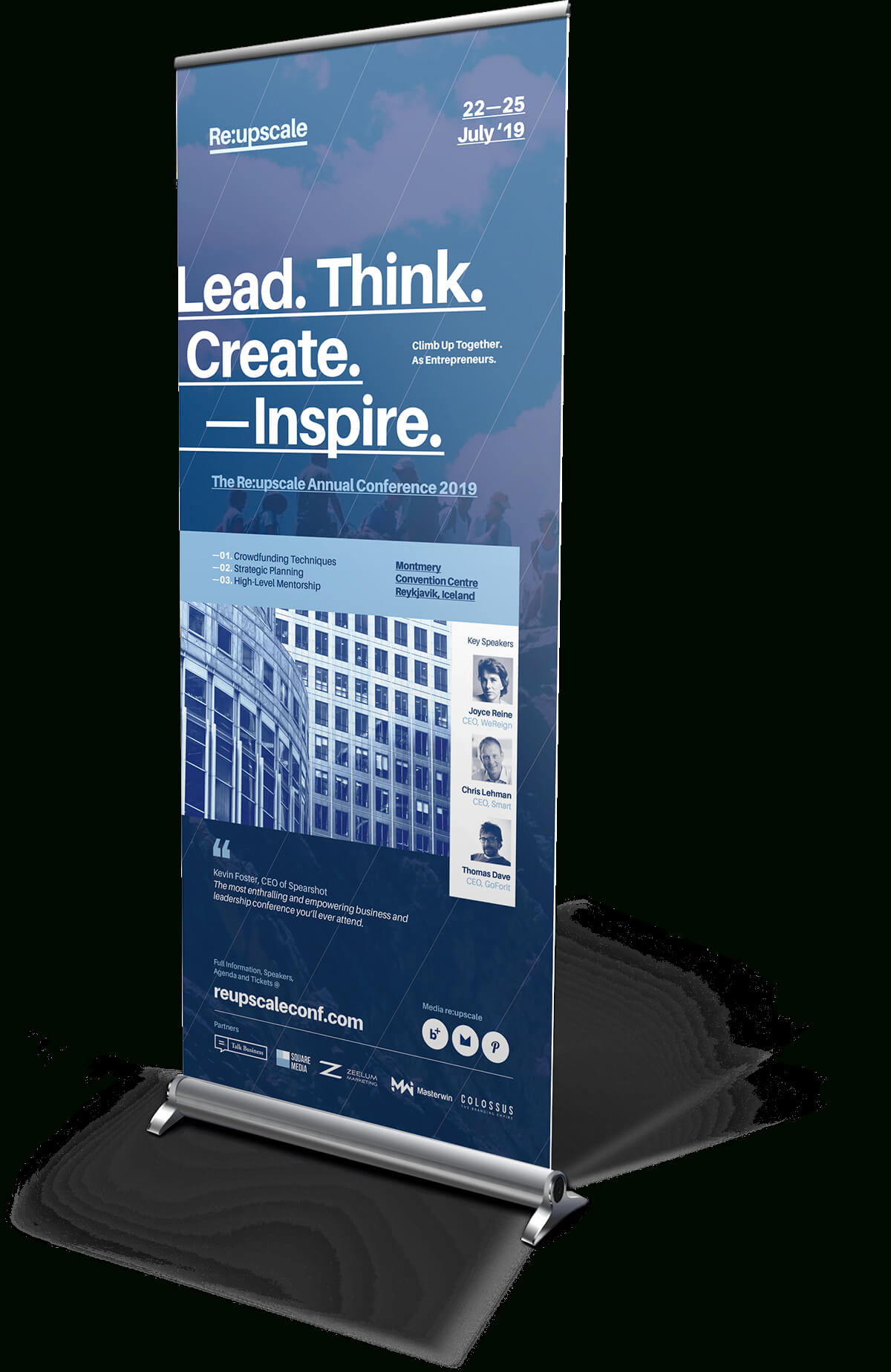 Event Roll Up Banner Templates On Behance | Layout Design With Pop Up Banner Design Template