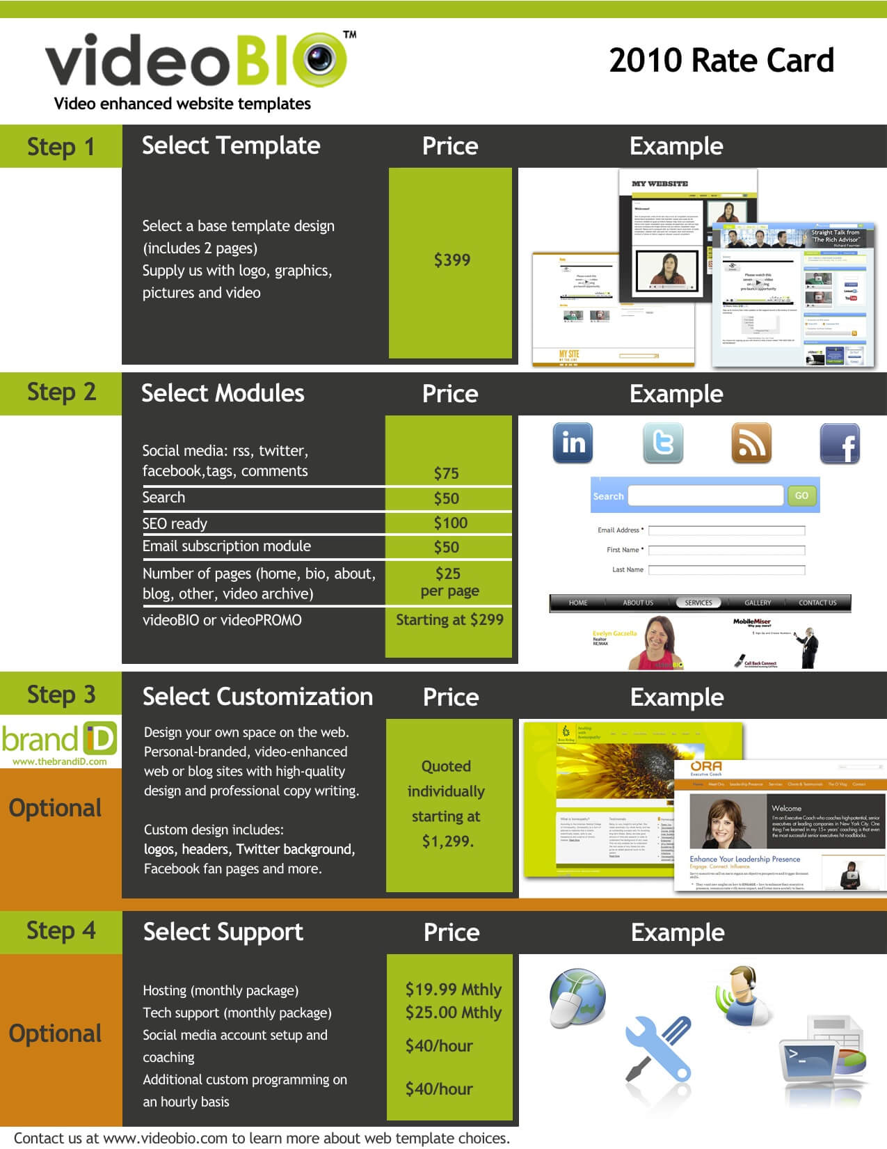 Examples Of Rate Cards | El Vaquero Graphics Team in Advertising Rate Card Template