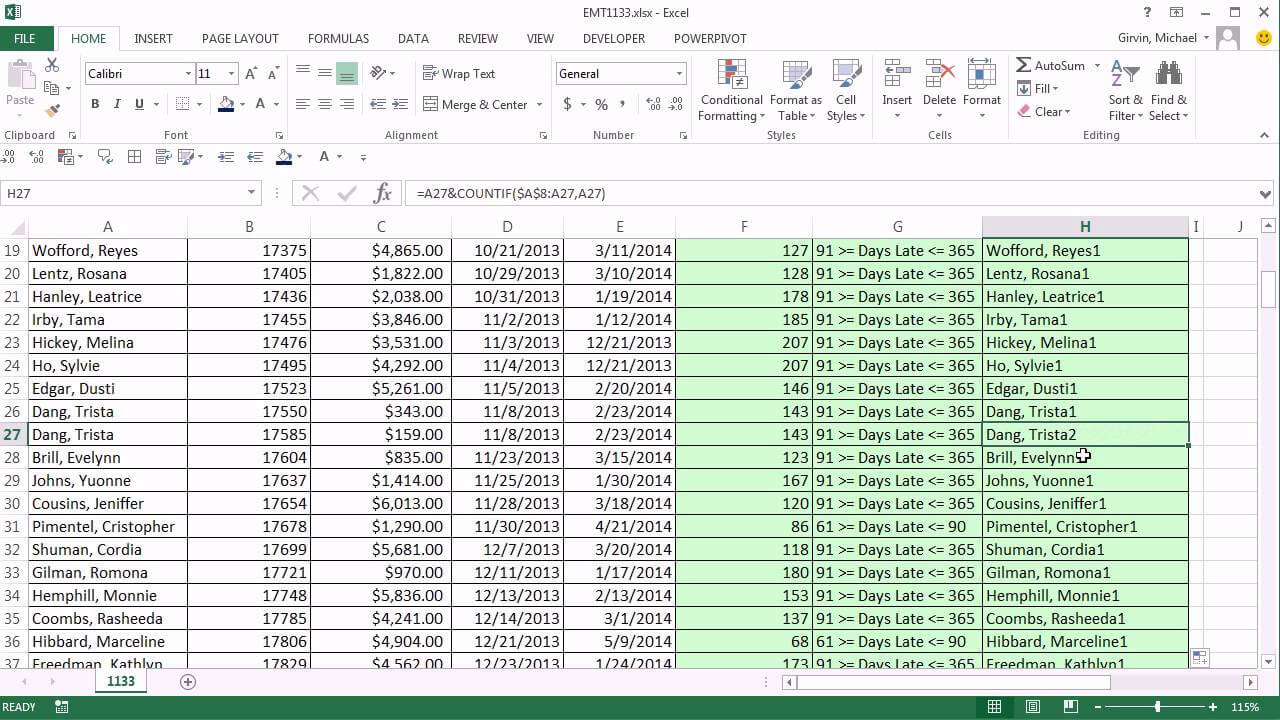 Excel Magic Trick 1133: Aging Accounts Receivable Reports: Pivottable &  Unique Identifier in Ar Report Template