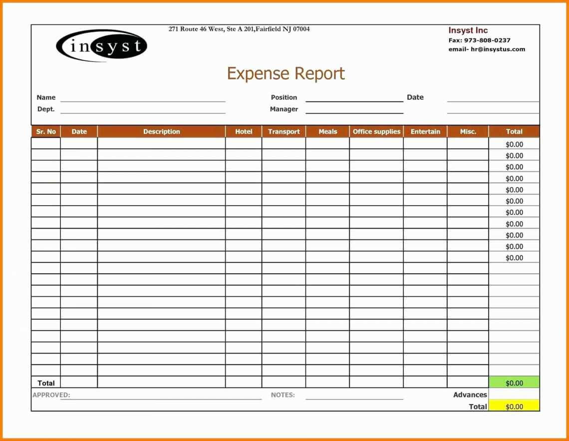 Expense Report Spreadsheet Weekly Template Excel 2007 Travel Inside Expense Report Spreadsheet Template
