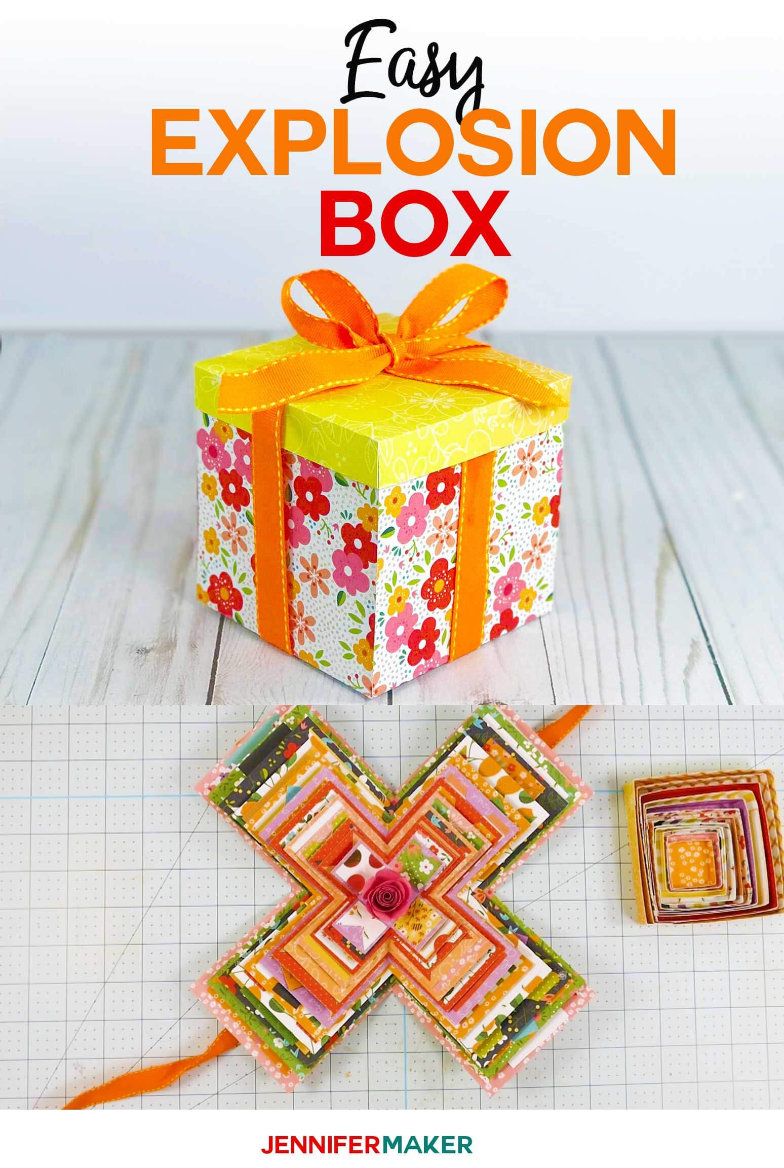Explosion Box Card Tutorial: Endless Box - Free Svg File Pertaining To Free Svg Card Templates
