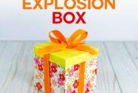 Explosion Box Card Tutorial: Endless Box – Free Svg File regarding Card Box Template Generator
