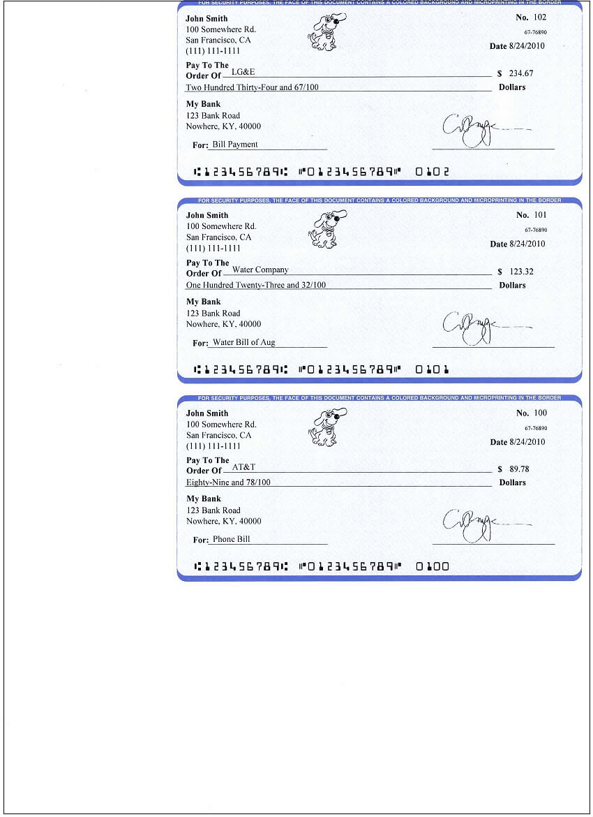 Ezcheckpersonal Makes It Easy To Print Pocket-Sized Personal pertaining to Personal Check Template Word 2003
