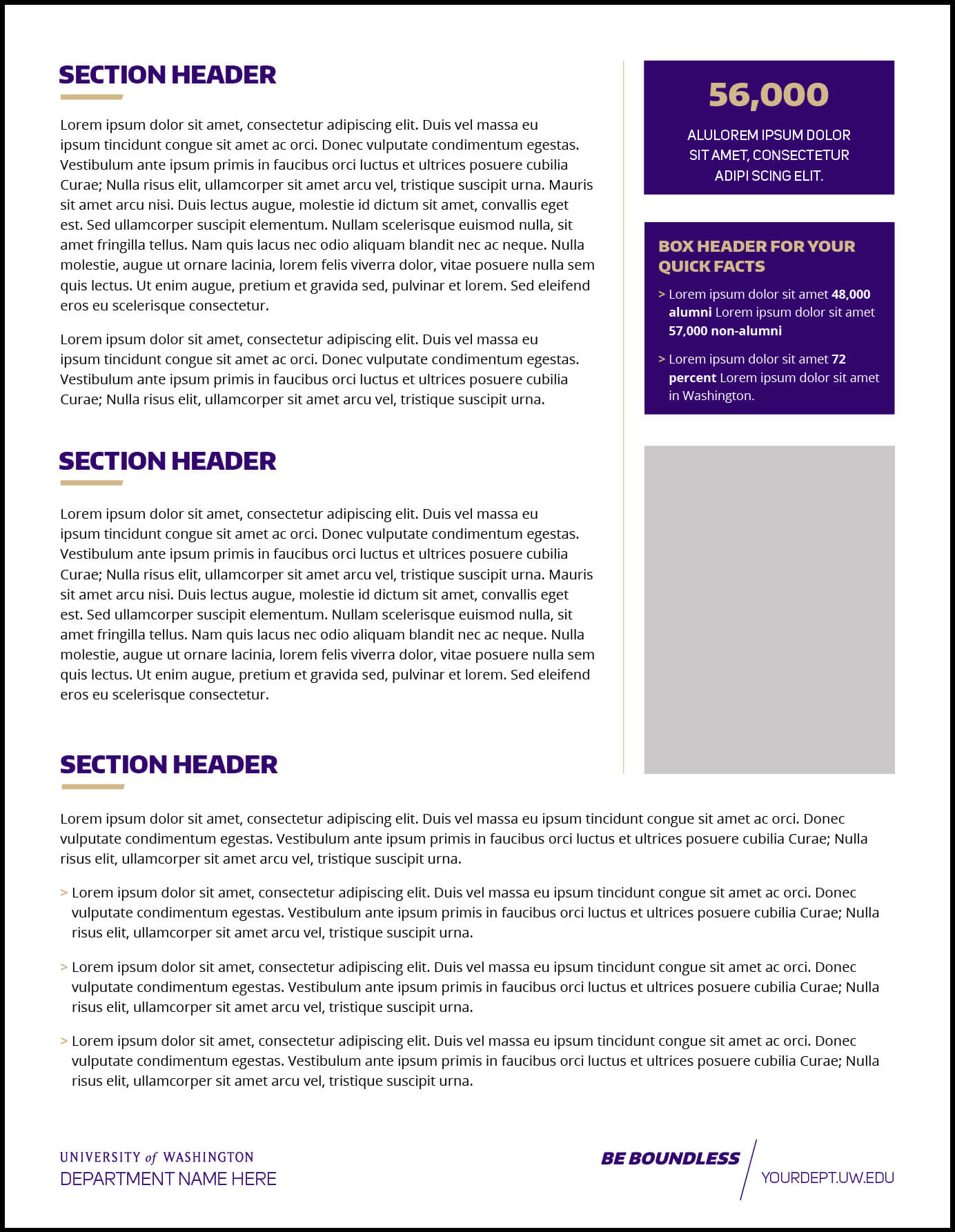 Fact Sheet | Uw Brand for Fact Sheet Template Word