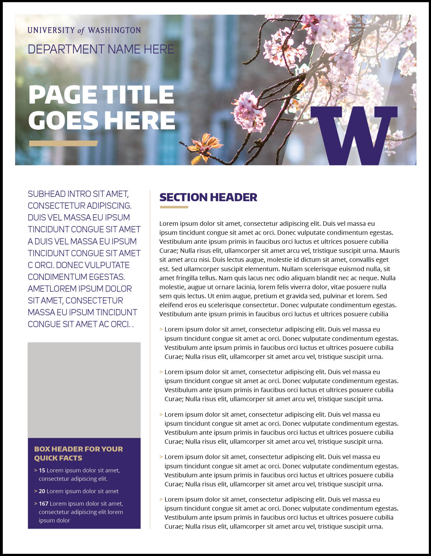 Fact Sheet | Uw Brand inside Fact Sheet Template Word