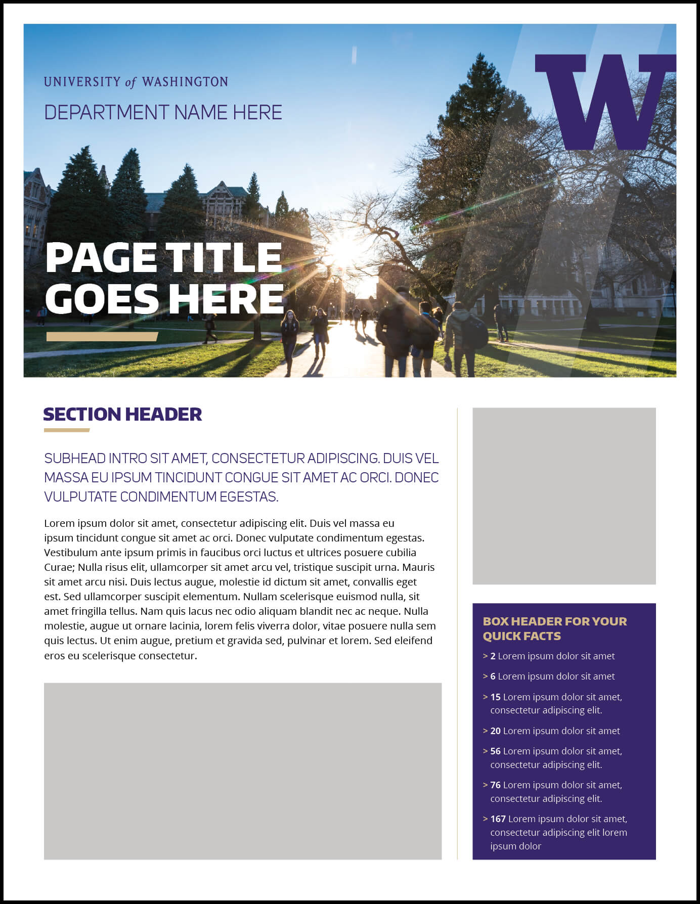 Fact Sheet | Uw Brand Pertaining To Fact Sheet Template Word