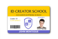 Faculty Id Card Template – Atlantaauctionco with Faculty Id Card Template