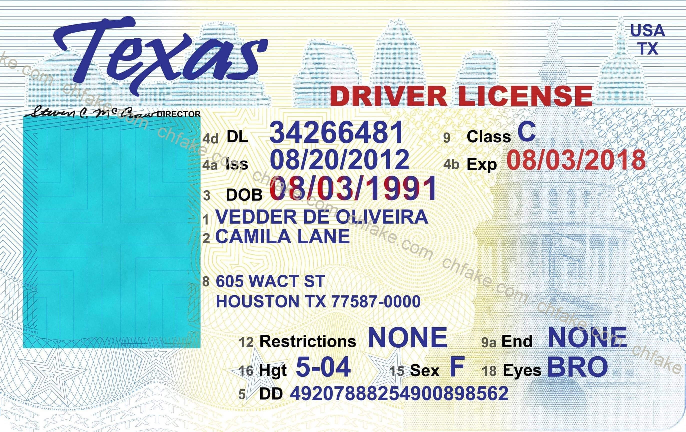 Fake Drivers License Template – Mytemplates - Free Printable within Blank Drivers License Template