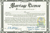 Fake Marriage Certificate | Marriage License | Marriage regarding Blank Marriage Certificate Template