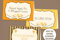 Fall Tent Card Template – Thanksgiving Placecards – Editable – Printable –  Pdf File – Fall Splendor – with Thanksgiving Place Cards Template