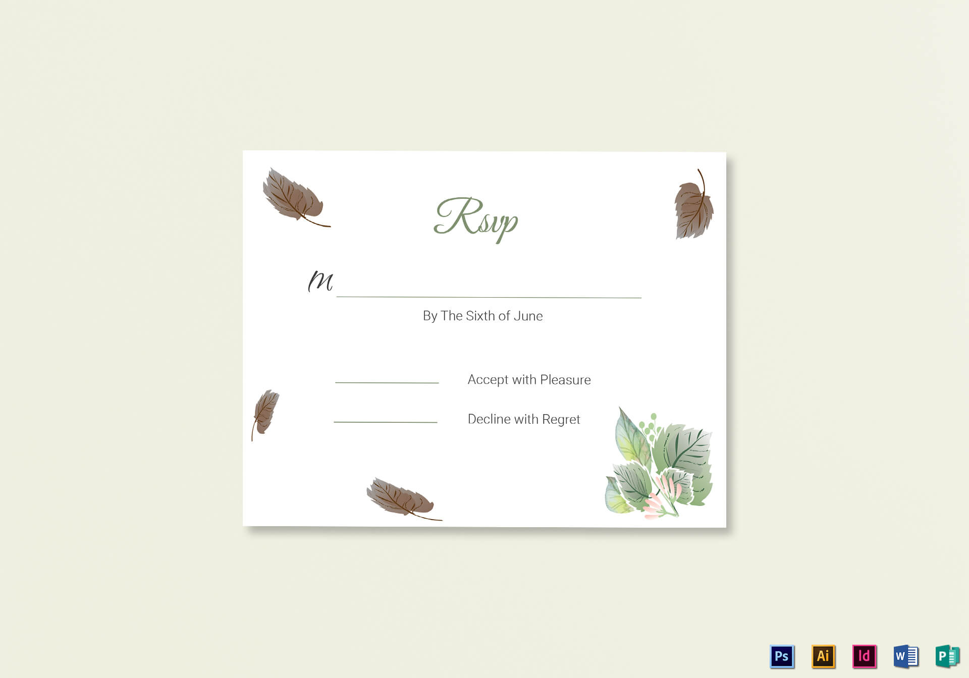 Fall Wedding Rsvp Card Template throughout Template For Rsvp Cards For Wedding