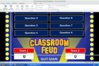 Family Feud Powerpoint Template Pertaining To Family Feud Powerpoint Template Free Download