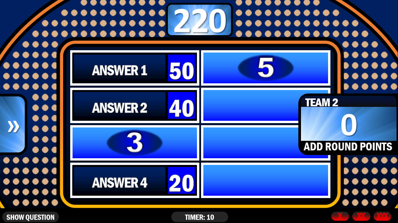Family Feud | Rusnak Creative Free Powerpoint Games inside Family Feud Game Template Powerpoint Free