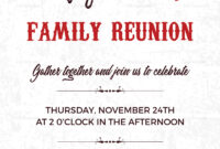 Family Reunion Invitation Card Template throughout Reunion Invitation Card Templates