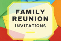Family Reunion Invitations regarding Reunion Invitation Card Templates