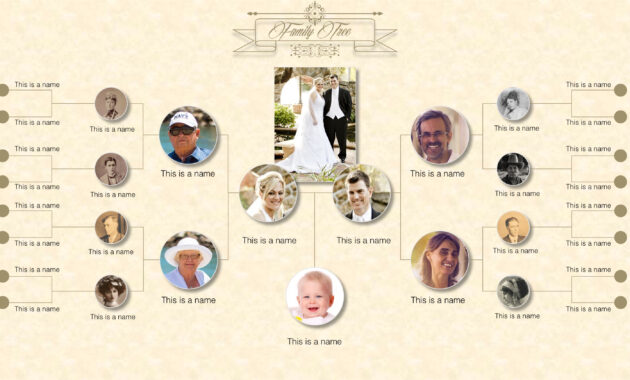Family Tree Powerpoint Templates in Powerpoint Genealogy Template