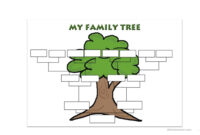 Family Tree Template – English Esl Worksheets Intended For Fill In The Blank Family Tree Template