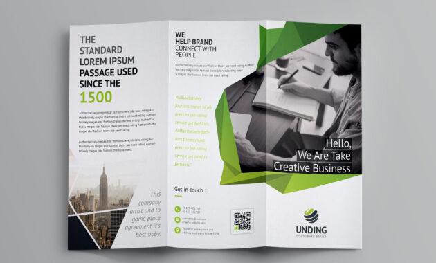 Fancy Business Tri-Fold Brochure Template 7 | Brochure with regard to Fancy Brochure Templates