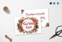 Farewell Card Template Word – Cumed Pertaining To Farewell Card Template Word