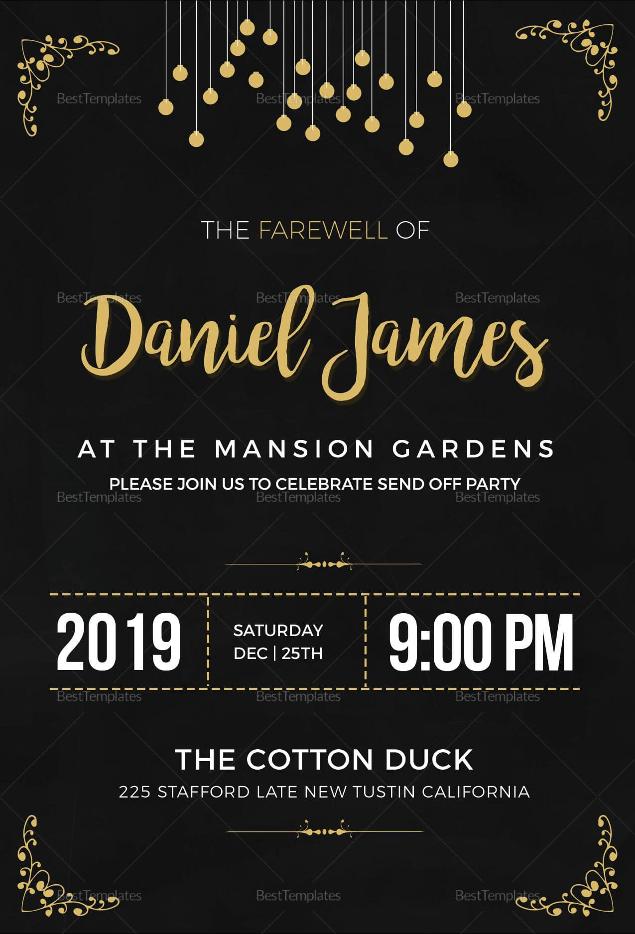 Farewell Invitation Card Template | Itrends | Farewell With Farewell Invitation Card Template