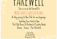 Farewell Invite | Going Away Party Invitations, Farewell within Farewell Invitation Card Template