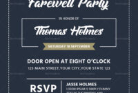Farewell Party Invitation Card Template regarding Farewell Invitation Card Template